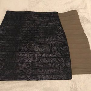 (2) express stretchy mini pencil skirts